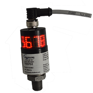 TDEPD Electronic Pressure Switch/Transducer with 360 Degree LED Display