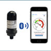 CirrusSense Wifeless Pressure Gauge for Pool Filters next to Pool Filter Pro App